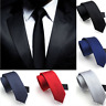 1X Business Classic Solid Plain Tie Jacquard Woven Men's Silk Suits Ties Necktie