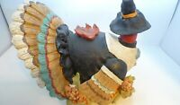 "Centerpiece 1997 Pilgrim Turkey  Resin 10"" 13"" 10"" Fanned Tail Indian Corn Large"