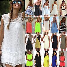 Sexy Womens Summer Short Mini Dress Cocktail Party Tunic Shift Dresses Sundress