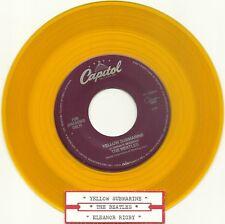 THE BEATLES ~YELLOW SUBMARINE b/w ELEANOR RIGBY ~YELLOW Vinyl, 45rpm re-issue M-