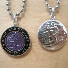 Saint Christopher Surf Medal Protector of Travel vi-bk Violet-Black Medium