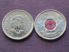 Canada 2004 25 cents - Amapola Roja SC - Poppy UNC