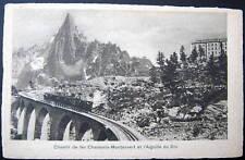 FRANCE~1900's CHAMONIX~Chemin de fer Montanvert~ TRAIN