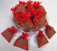 Set of 80 Lavender Sachets made with Red Organza Bags