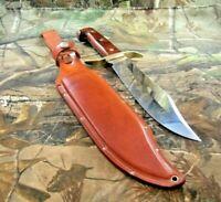 Vintage Western USA W-49 I Fixed Blade Knife W/ Original Dangler Sheath  #P-97
