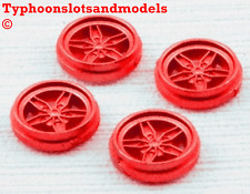TEAM SLOT Lancia Stratos  Rear Wheel Inserts x 4 - Red Painted - E0110 - New