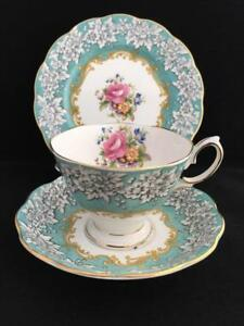 ROYAL ALBERT ENCHANTMENT VINTAGE CUP SUCER AND PLATE
