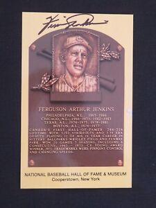 Guaranteed Authentic Ferguson Jenkins Autographed Gold Hall Of Fame Plaque HOF