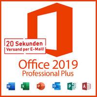 Microsoft Office Professional Plus 2019 Software Lizenz E-Mail Key ProPlus DE MS