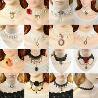 Women Lace Fashion Necklace Collar Choker Vintage Gothic Chain Pendant Jewelry