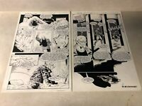 BRIGADE #5 original art PAGE #3,4 HACKER GETS KIDNAPPED IMAGE 1993 MYCHAELS WINN