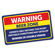 Warning Beer Zone Sticker Funny Car Stickers Novelty Decals #6014K