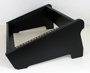 "19"" 8U DESKTOP STUDIO DUAL ANGLE RACK POD CASE CABINET FURNITURE TEXTURED BLACK"