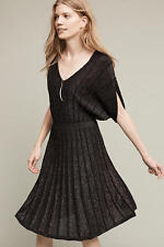 NWT Anthropologie Gallivant Sweater Dress, by Knitted & Knotted - Black, size L