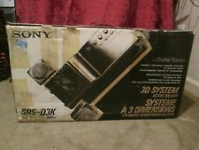 Sony SRS-D3K 3D System NOS Vintage Old School