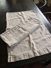 Set of 2 Matteo Pillowcases Shams 100% Heavy Linen Natural Beige Queen 29�x19.5�