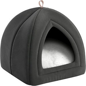 Bedsure Cat Beds for Indoor Cats - Cat Cave Bed Cat House Cat Tent with Removabl