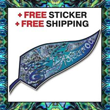 Aotearoa Blue & Paua Tribal Fern Car Sticker NZ KIWI INCLUDES FREE BONUS STICKER