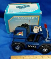 NOS VTG Toy Highway Force Bug Police Car Battery Op Tumbles Climbs 4WD Lights
