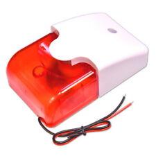 Durable 12V Con Cable Sonido Alarma 110dB Luz Intermitente Estroboscópica Sirena De Seguridad Para El Hogar