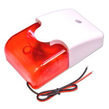 12V Wired Sound Alarm 110dB Strobe Flashing Light Siren Home Security System