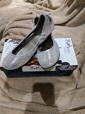 Worn once Maria Sharapova by Cole Haan silver flats