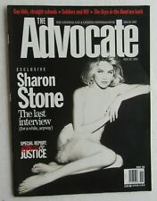 The Advocate National Gay & Lesbian News Magazine May 1996 Sharon Stone Cover