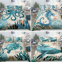 3D Animals Print Duvet&Quilt Cover Pillowcases Bedding Set Twin Queen King Size