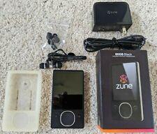 Microsoft Zune Black (80 GB) Digital Media Player w/ BRAND NEW BATTERY + EXTRAS