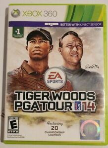 Tiger Woods PGA Tour 14 (Microsoft Xbox 360, 2013) CIB SUPERB CONDITION! RARE!