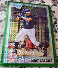 GARY SANCHEZ 2010 Bowman Chrome Green XFractor Rookie Card RC Yankees HOT 25 HRs
