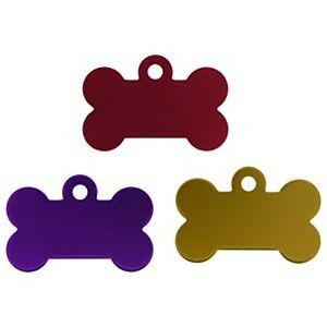 Bone Shaped Dog Id Pet Tag 38mm Various Colours BUY ONE GET ONE FREE ( BOGOF )
