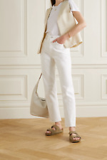 AGOLDE '90s Pinch Waist high-rise straight-leg jeans, White, size 24