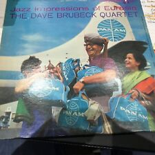 DAVE BRUBECK 1958 LP JAZZ IMPRESSION OF EURASIA RARE FIRST PRESS CDA 6-EYE EX-