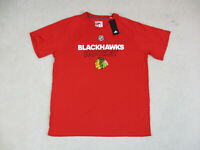 NEW Adidas Chicago Blackhawks Shirt Adult 2XL XXL Red White NHL Hockey Mens
