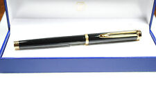 WATERMAN EXECUTIVE BLACK & GOLD  ROLLERBALL  PEN NEW IN BOX