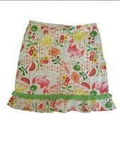 New OILILY Girls Floral Cotton Skirt 140 (US 9-10)