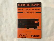 Operating manual British railways locomotives d500 - d 5175 Aei Sulzberger