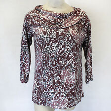 NEW Zenergy by Chico's Cowl Neck Blouse Fall Winter Tunic Sweater Top Fits 0
