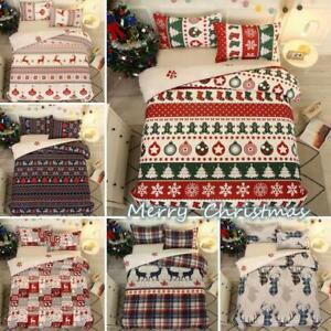 Christmas Gift Doona Duvet Cover Pillowcase Bedding Set Single Double Queen King