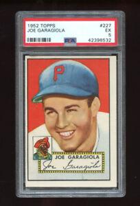 1952 Topps Set Break #227 - Joe Garagiola PSA 5 EX