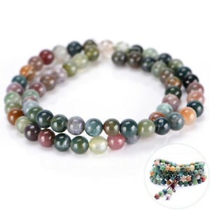 Prayer Tibetan 6mm India Agate Buddhist Bead DIY Bless Lucky Bracelet NecklY ad