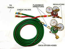 Devardi Glass Lampworking Oxygen/propane Torch regulator, hose kit 3 inch gauges