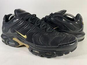 Nike Air Max Plus Tn Black Metallic Gold Mens Size 12 Rare 852630-022