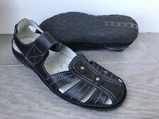 Spring Step Surpass Mary Jane Strap Sandal Black Leather Size 38M US 7-7.5