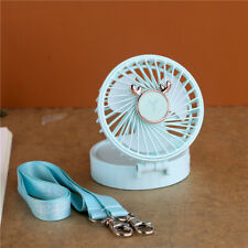 LED make-up mini mirror with USB small fan,blue