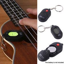 Key Ring Universal LCD Digital Chromatic Electronic Guitar Bass Ukulele Tuner