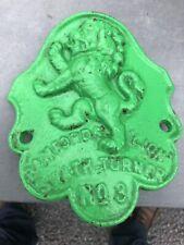 Bamfords Lion plaque