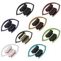 Foldable Stereo BT Headset Wireless Headphone Mic For iPhone Samsung J0Y2