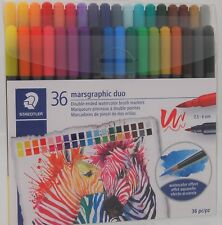 Staedtler Marsgraphic Duo 36 pc set Double-Ended Watercolor Brush Markers
